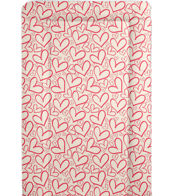 Love Heart - Baby Changing Mat - Nursery - Red Love Hearts
