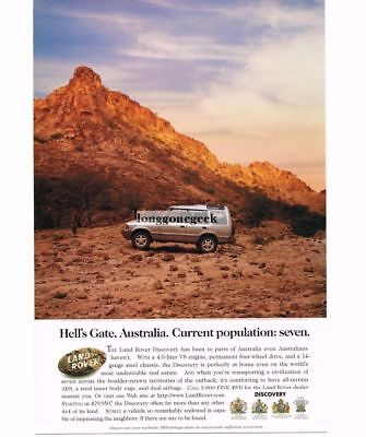 1986 Land Rover DISCOVERY Silver Hell's Gate Australia Vtg Print Ad