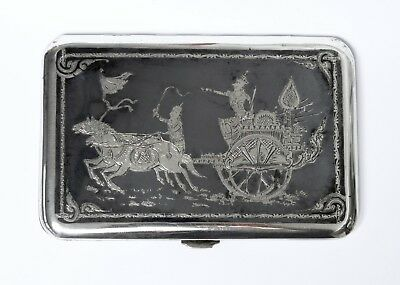 Nice Large Antique Indian Silver Cigarette Case