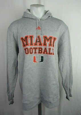 UNIVERSITY OF MIAMI NCAA Adidas Men's Climawarm Pull Over