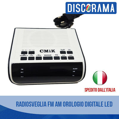 Radio Sveglia Radiosveglia Fm Am Digitale Led Camera Orologio Letto Comodino