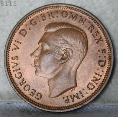 "1945 Great Britain Half Penny ""BU"" *Free S/H After 1st Item*"