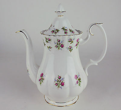 Large Coffee Pot Royal Albert Winsome vintage bone china made in England