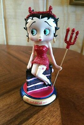 """Betty Boop Devil 5"""" Tall  Collectiable Figurine 2010 The Danbury Mint"""