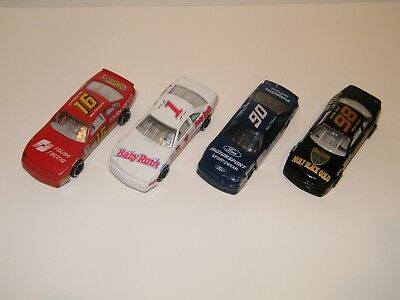 """(4) Nascar 4-1/2"""" Race Cars ~ Baby Ruth, Planters, Moly Max Gold, Motorsport"""
