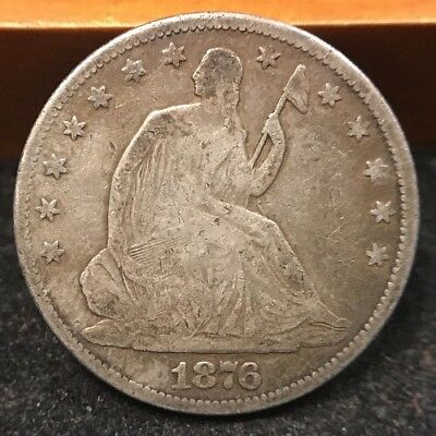 1876-P Seated Liberty Half Dollar VG Condition! Fantastic Coin!