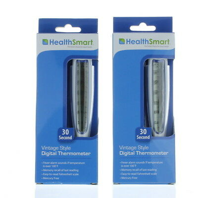 Lot of 2 Oral Underarm Rectal Medical Body Temperature Thermometer  30 Second