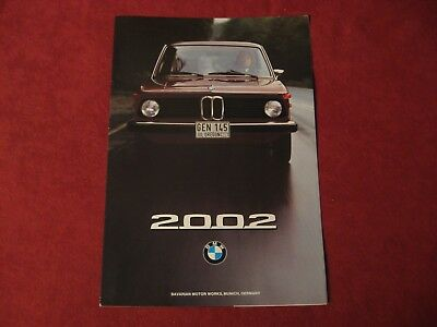 1975? BMW Original Factory Showroom Dealership Salesman Brochure Old Booklet