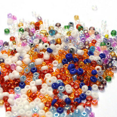 4000pcs 2mm Jewelry Findings Loose Czech Glass Rondelle Spacer Seed Beads 11/0