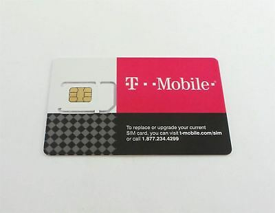 T-Mobile 4G LTE Replacement SIM CARD 3 IN 1 TRIPLE CUT Expires 05/14/2018 New