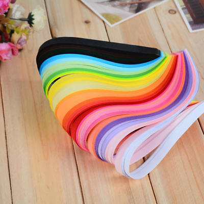 260pcs 3/5/7/10mm Quilling Paper Strips 26 Colours Assorted DIY Craft Tool