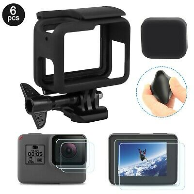 Frame For GoPro HERO 5/6 Black Housing Border Protective Shell Case Lens Cap