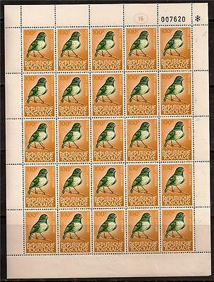 Togo 1981 Bird Red Bishop Full Sheet Sc # C447 Mnh