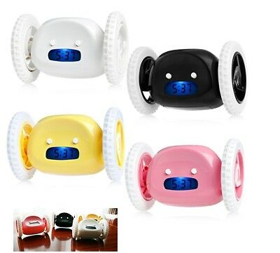 Running Clocky Runaway Alarm Clock with Moving Wheels Fun Xmas Novelty Gift AU