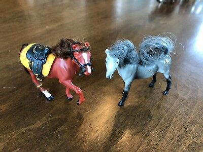 Grand Champions Toy Plastic Horses (2) with brushes