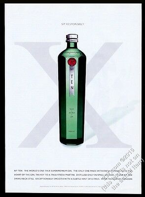 2001 Tanqueray No. Ten 10 Gin bottle photo vintage print ad