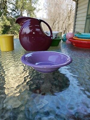 """FIESTA 6.5"""" STACKING CEREAL OATMEAL BOWL lilac purple 11 oz."""