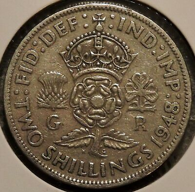British CN Florin - 1948 - King George VI - $1 Unlimited Shipping