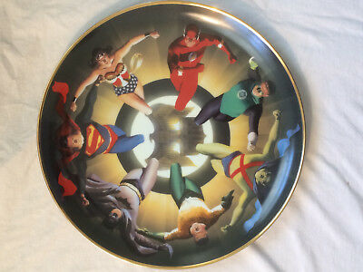ALEX ROSS JUSTICE LEAGUE Collector's Plate SUPERMAN BATMAN JLA Warner Bros