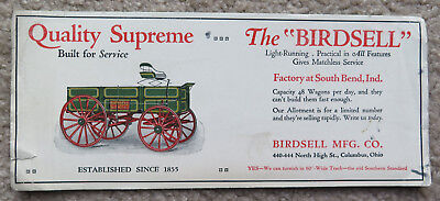 South Bend IN Birdsell Manufacturing Co Wagon Factory Columbus OH Trade Card