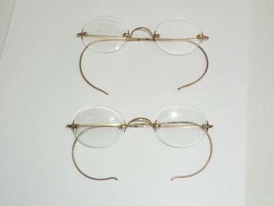 2 Pairs Of Vintage Rimless Glasses