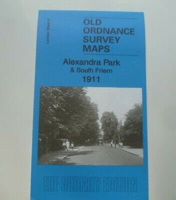 Old Ordnance Survey Maps Alexandra Park South Friern London 1911 Godfrey Edition