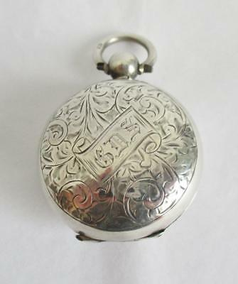 Stunning 1902 Solid Silver Sovereign Case H/mark Chester 1902 Beautiful Pattern