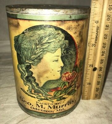 Antique Electric Brand Tomatoes Tin Food Country Grocery Store Can Odenton Md
