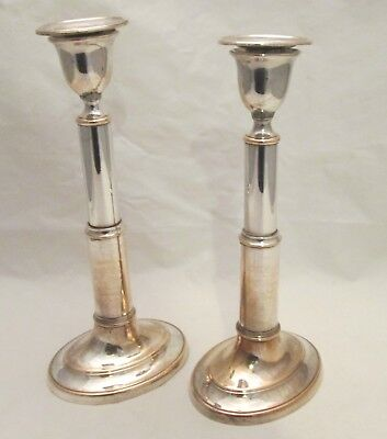 Rare Pair of Old Sheffield Plate Extending Candlesticks - Mortons Patent c1796