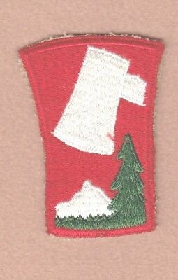 Army Patch: 70th Infantry Division, cut edge, WWII era