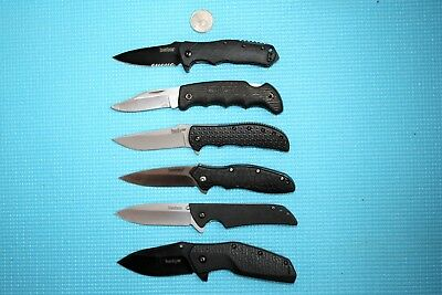 VARIETY LOT OF 6 KERSHAW KNIVES: 1760 1987 1830 3650 3850 1045 JAPAN   Knife