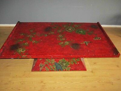 Vintage Chinese Lacquered Coffee Table - Boutique, Oriental - 126cm wide