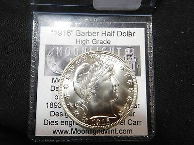 D1 1916-2016 Daniel Carr Barber Half Dollar Centennial Issuew/Tag Moonlight Mint