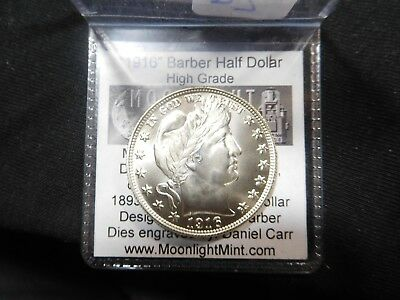 D2 1916-2016 Daniel Carr Barber Half Dollar Centennial Issuew/Tag Moonlight Mint