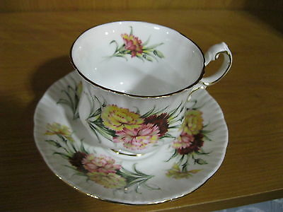 Paragon Bone China Cup & Saucer Set Yellow & Pink Flowers Nearly New Condition!