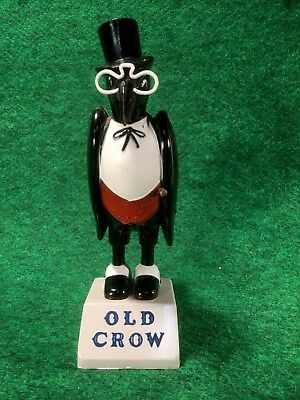 Vintage Old Crow Whiskey Advertising Plastic Black Bird REAL NICE 1950's Antique