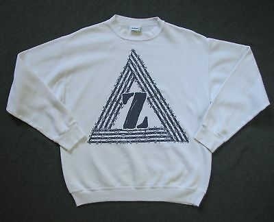 JIMMY'Z MENS L large WHITE VINTAGE 80'S SWEATSHIRT