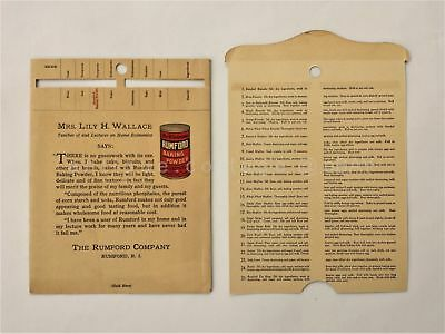 1930 antique RUMFORD BAKING POWDER mechanical 25 biscuit RECIPES cooking ad