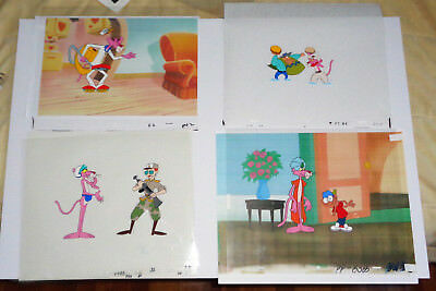 Pink Panther Set Of Four (4) Different Animation Production Cels