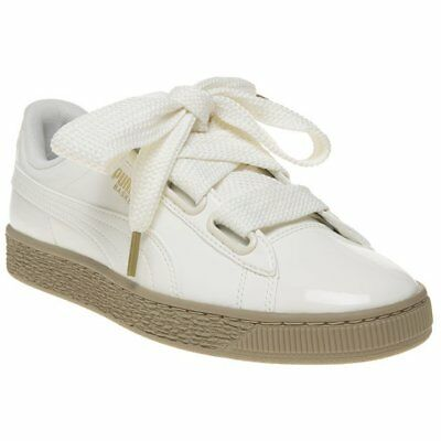 Court Womens Trainers Patent Basket Lace Leather New Heart Up Puma Natural OPXukTZi