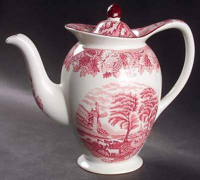 Wood & Sons ENGLISH SCENERY PINK 4 Cup Small Coffee Pot 6747364