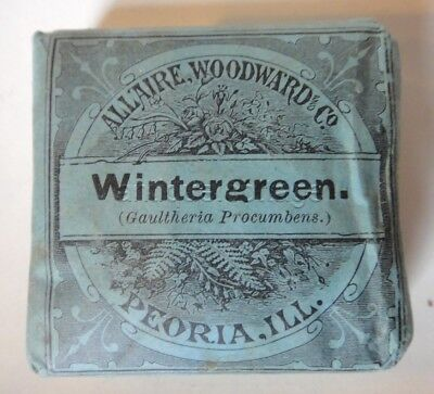 c1890 antique UNUSED WINTERGREEN herb QUACK MED homeopathic STIMULANT ASTRINGENT