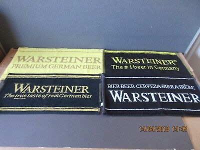 Warsteiner The # 1 Beer In Germany Bar Towels In Excellent Condition
