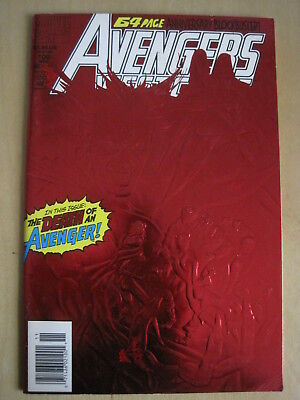 WEST COAST AVENGERS issue 100. RED, METALLIC, ENHANCED COVER. MARVEL. 1993