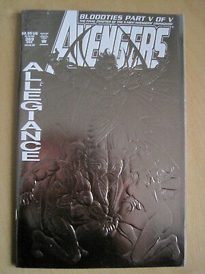 AVENGERS issue 369. SILVER, METALLIC, ENHANCED COVER. BLOODTIES. MARVEL.1993