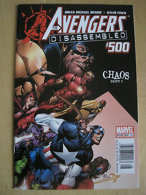 """AVENGERS issue 500. """"Disassembled"""", GIANT SIZE ISSUE by BENDIS,FINCH.MARVEL.2004"""