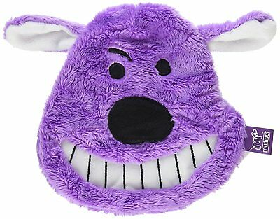 """Multipet Look Loofa Crinkle Face 7"""" Plush Soft Head Dog Toy. Free Ship To Usa"""