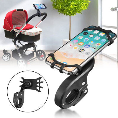 Bike MTB Bicycle Motorcycle Handlebar Mount Baby Car Stroller Holder For Mobile