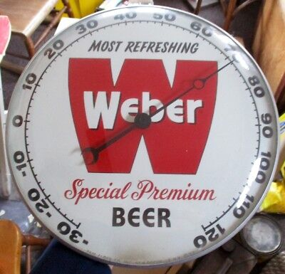 RARE 1950s  WEBER PREMIUM BEER PAM THERMOMETER.....NICE ONE!
