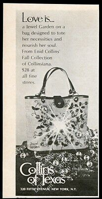 1969 Enid Collins Jewel Garden purse handbag photo vintage print ad